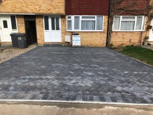 New Charcoal Block Paving Driveway in Chelmsford