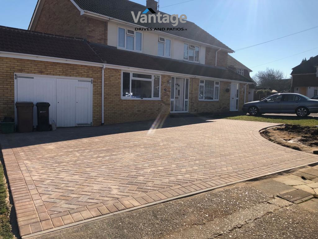 New Paved Driveway WIth Bracken Colour