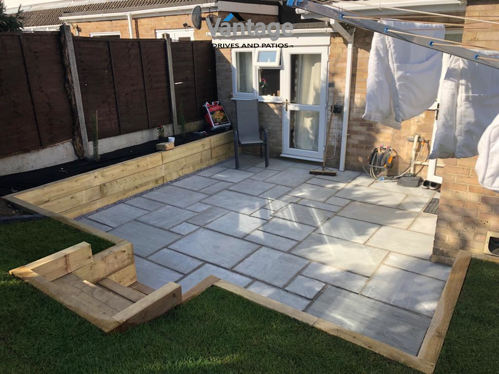 New Indian Sandstone Patio Chelmsford