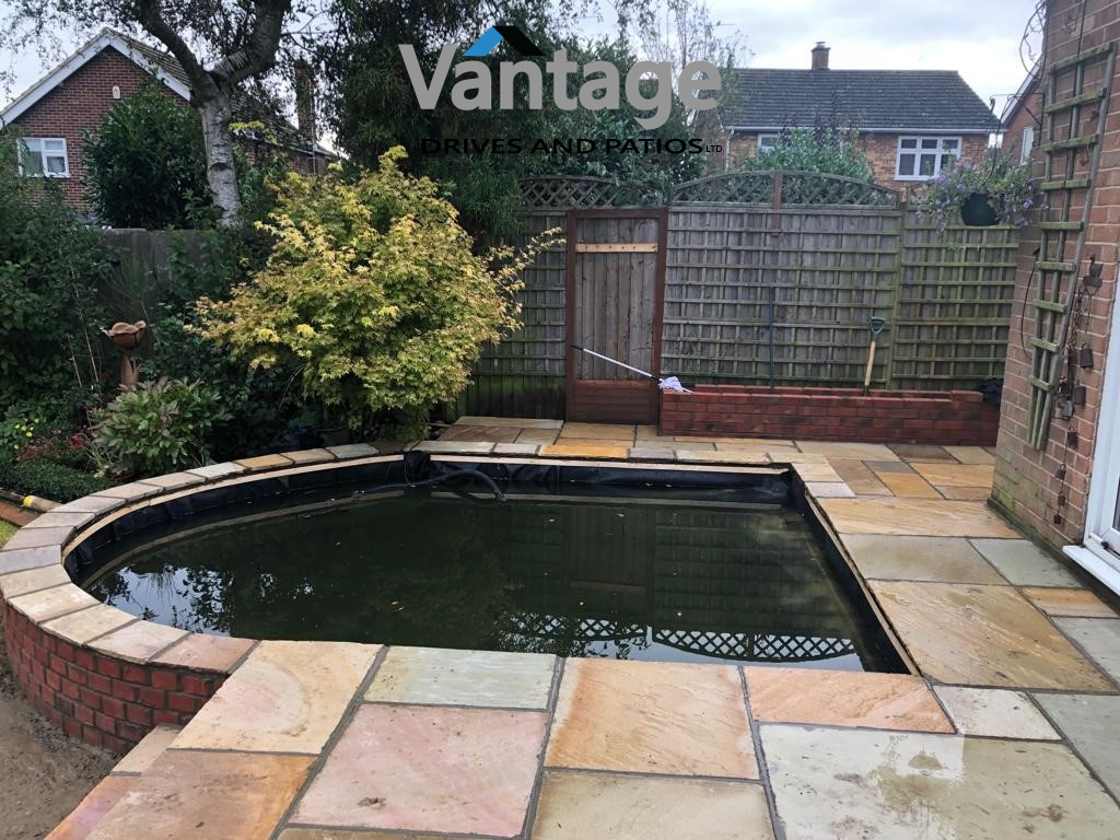 Fossil Mint Sandstone Patio in Ongar