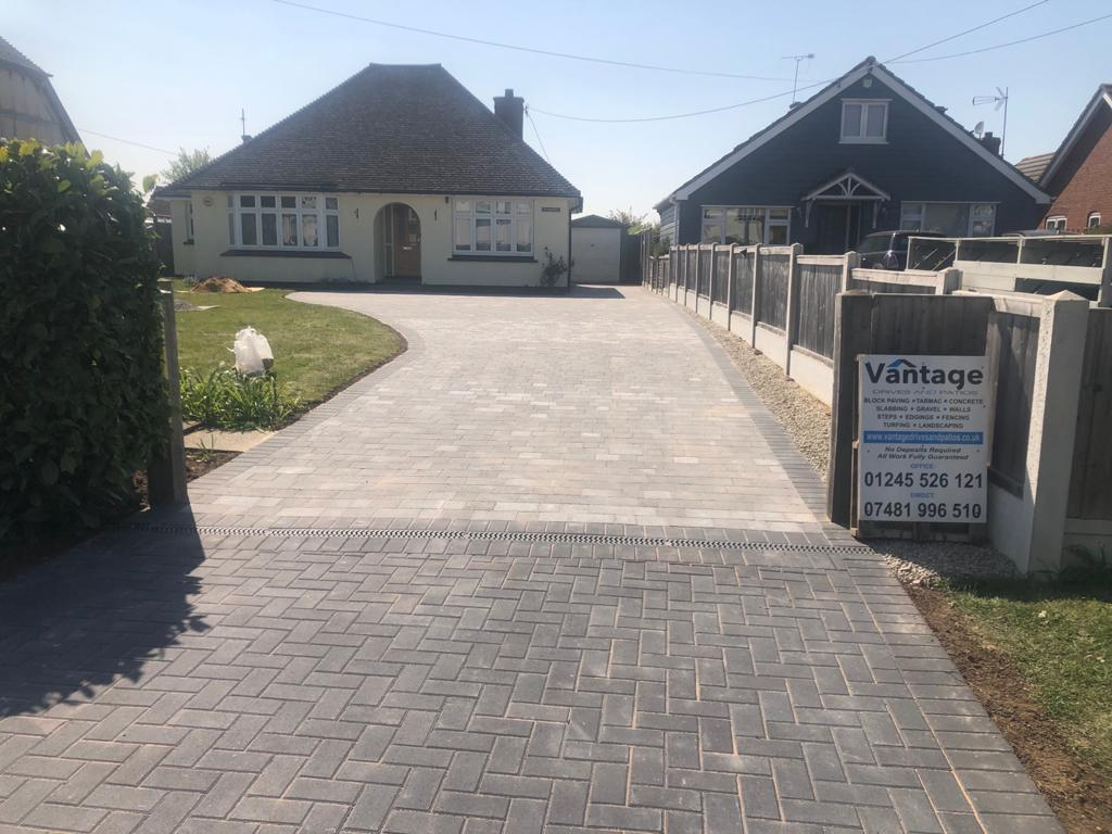 Tegula and Block Paving Driveway in Chelmsford