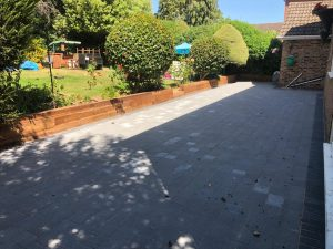 Tegula Paving Driveway and Patio in Hornchurch, Essex