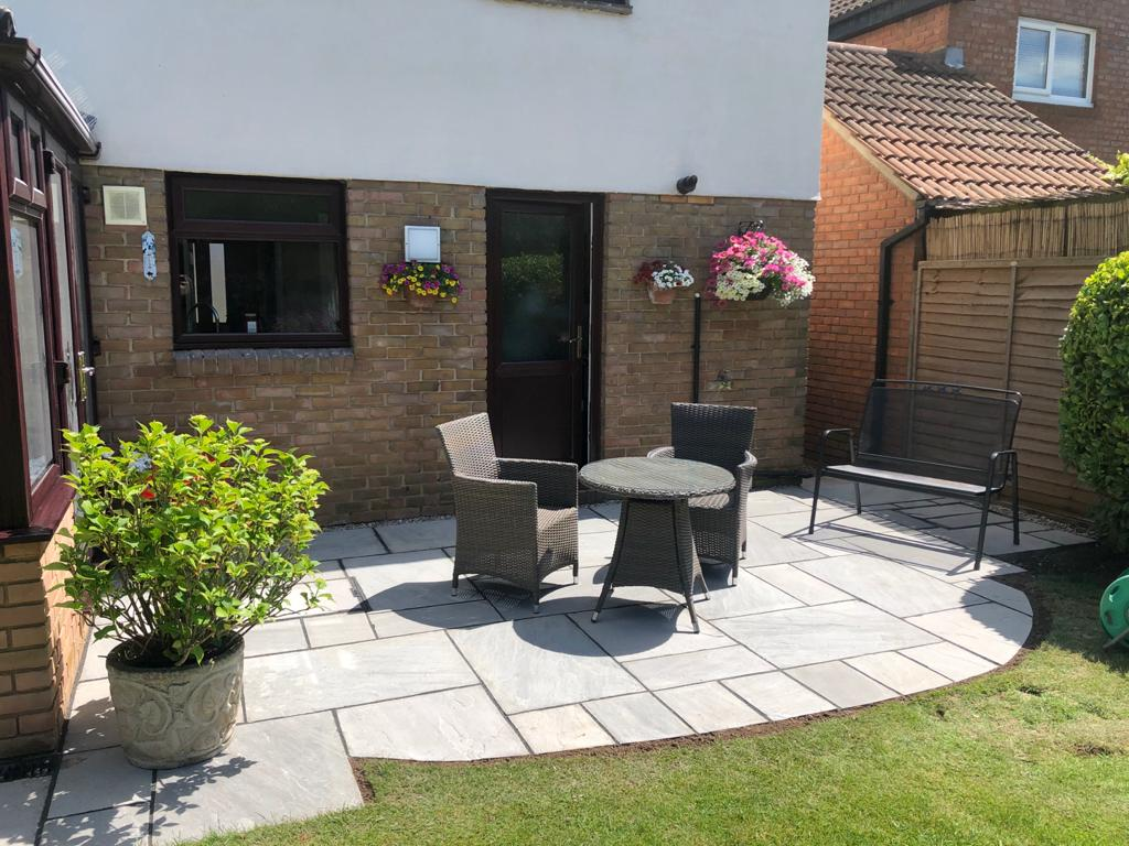Indian Sandstone Patio in Chelmsford