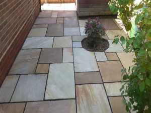 Fossil Mint Indian Sandstone Patio in Stock, Essex