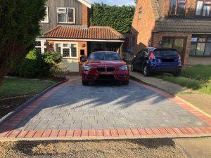 Tegula Block Paving Driveway in Stock, Essex