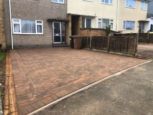Bracken Driveway with Herringbone Pattern in Chelmsford