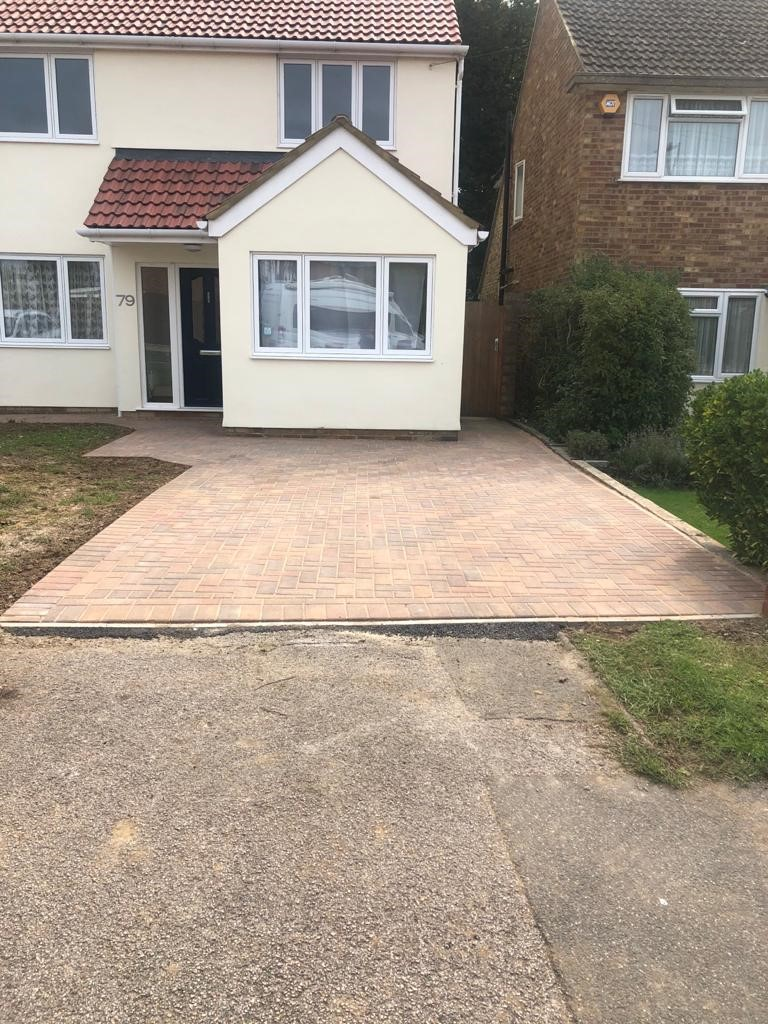 Double Block Paving Driveway and Patio in Brentwood, Essex