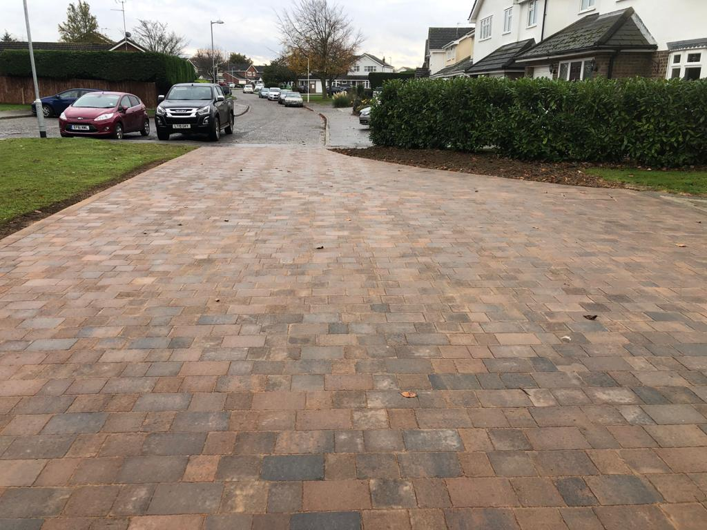 Autumn Gold Tegula Paving Driveway in Chelmsford