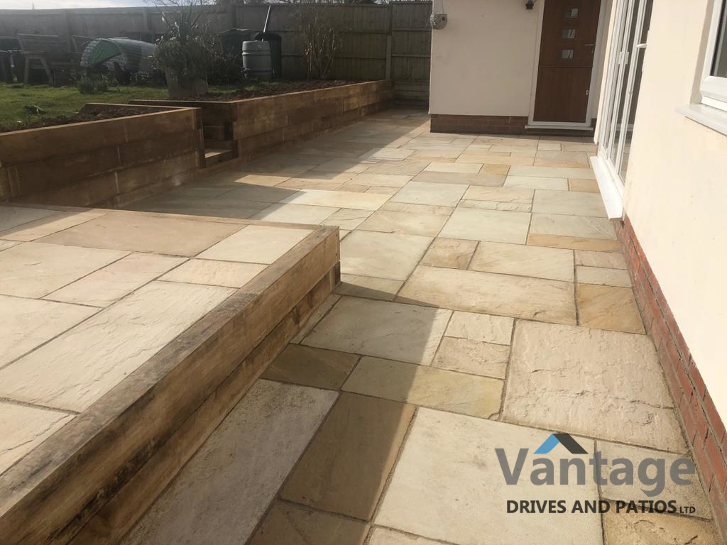 Fossil Mint Indian Sandstone Patio in Chelmsford