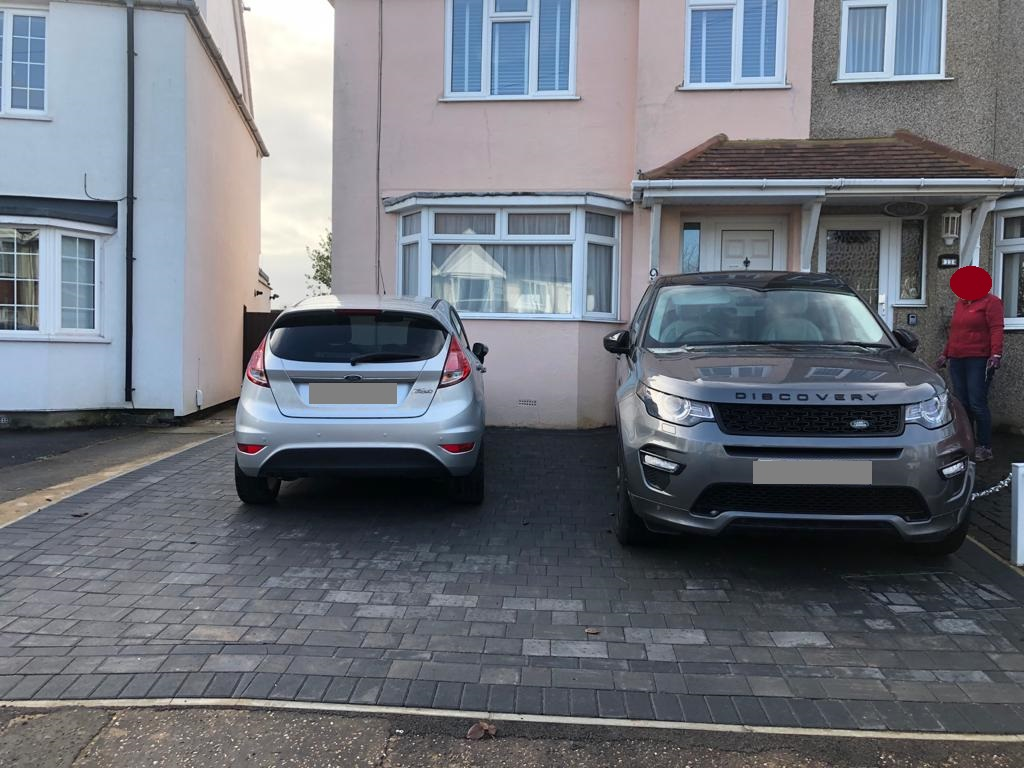 Two Paved Driveways in Chelmsford