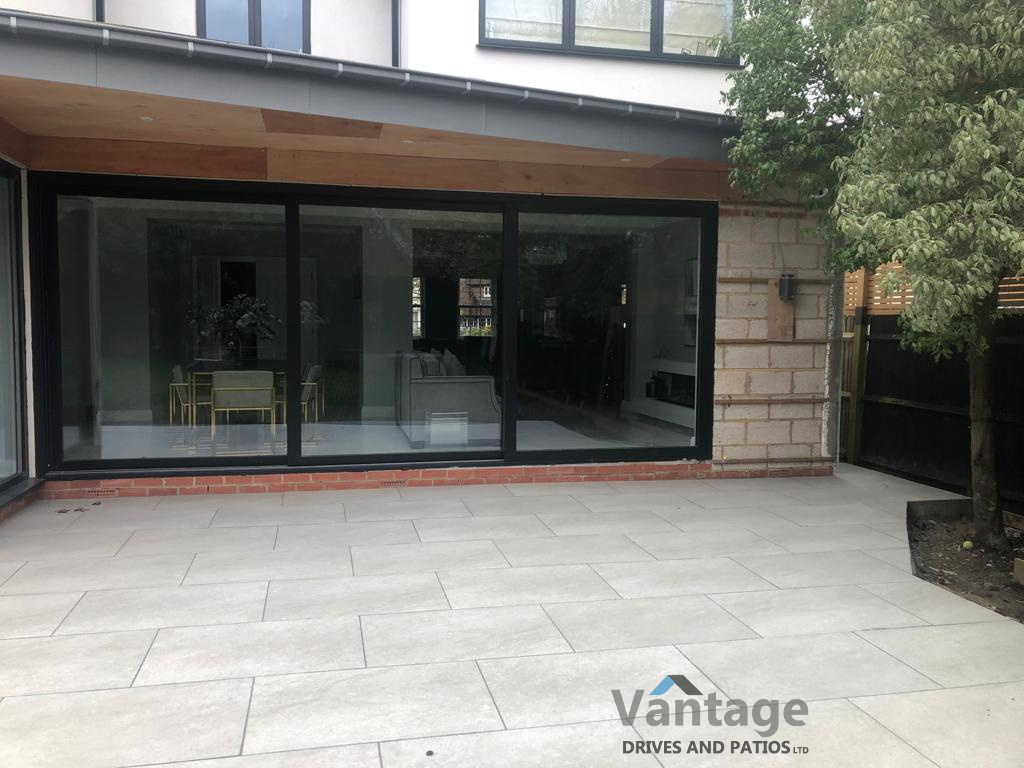 Porcelain Patio in Brentwood, Essex