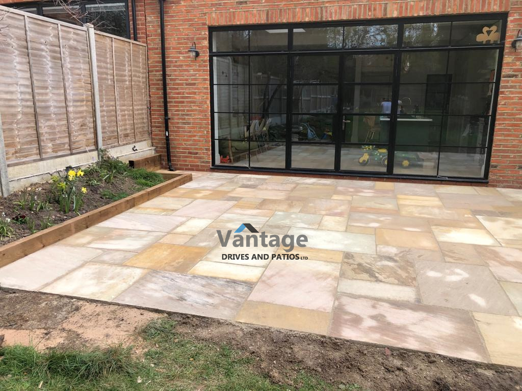Fossil Mint Indian Sandstone Patio in Woodford