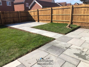 Kandla Grey Indian Sandstone Patio in Chelmsford