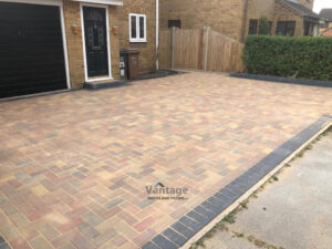 New Paved Driveway with Slabbed Patio in Chelmsford