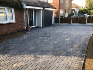 Block Paved Driveway with New Fencing in Chelmsford